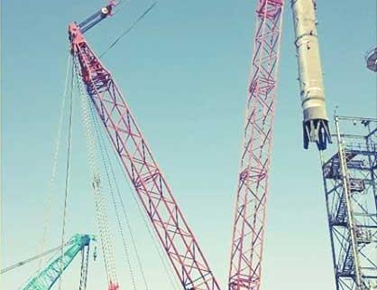 نصب راکتور ۳۰۰ تنی در پالایشگاه شیراز