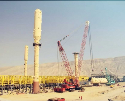 INSTALLATION OF 550 TONNES TOWER